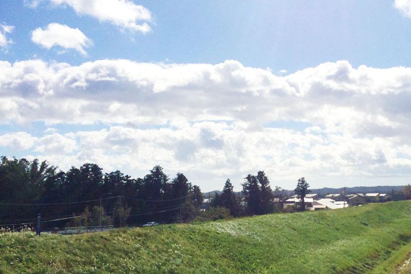 加美郡色麻町の風景