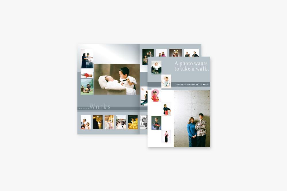写真館様の販促用チラシ全体イメージ