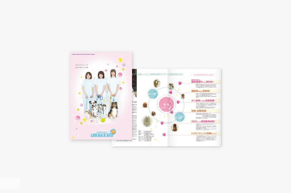 可愛い女性向けのパンフレットデザイン