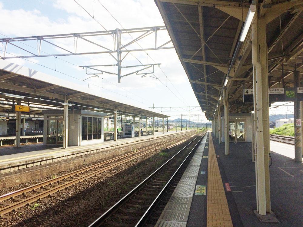 駅内の景色