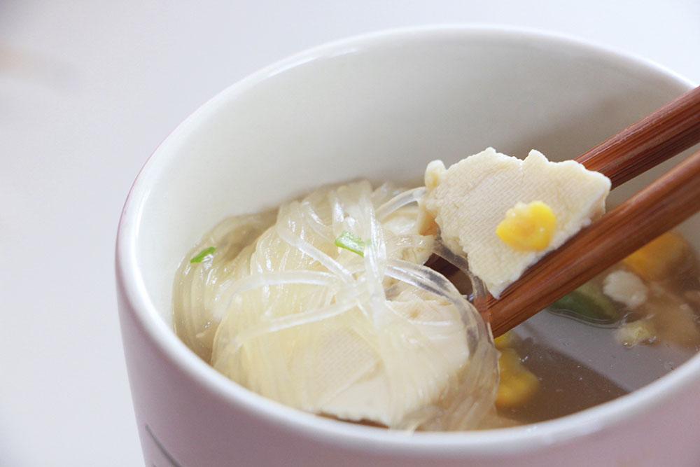 豆腐とスープ