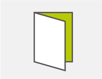 二つ折り4ページタイプ