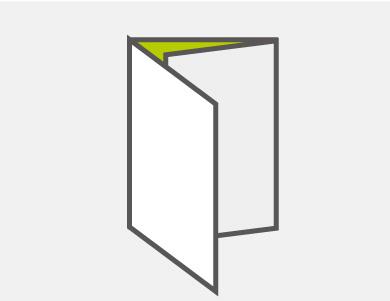三つ折り6ページタイプ