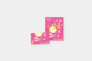 子供向け販促物スタンプカードデザイン。
