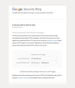 ウェブサイトを常時SSL化に対応しましょう。