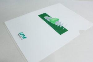 大崎古川の会社様|A4クリアファイルのデザイン